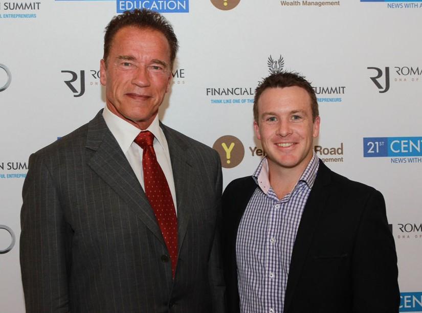 Dave Burgis and Arnold Schwarzenegger
