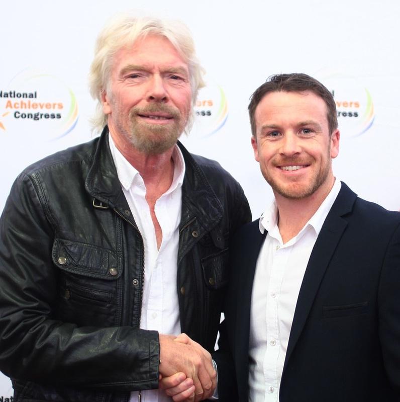 Dave Burgis and Richard Branson